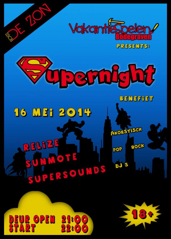 Vakantiespelen Supernight Social Media PNG